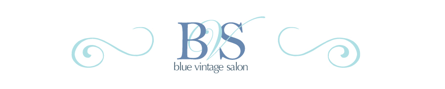 blue vintage salon